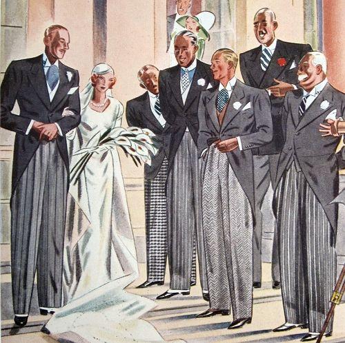 A Gentleman's Morning Coat, 1930's Weddings