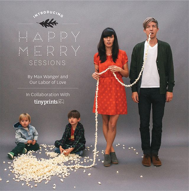 Cute holiday photo! Love the idea of using the popcorn string. Maybe with two tiny dogs eating the popcorn!