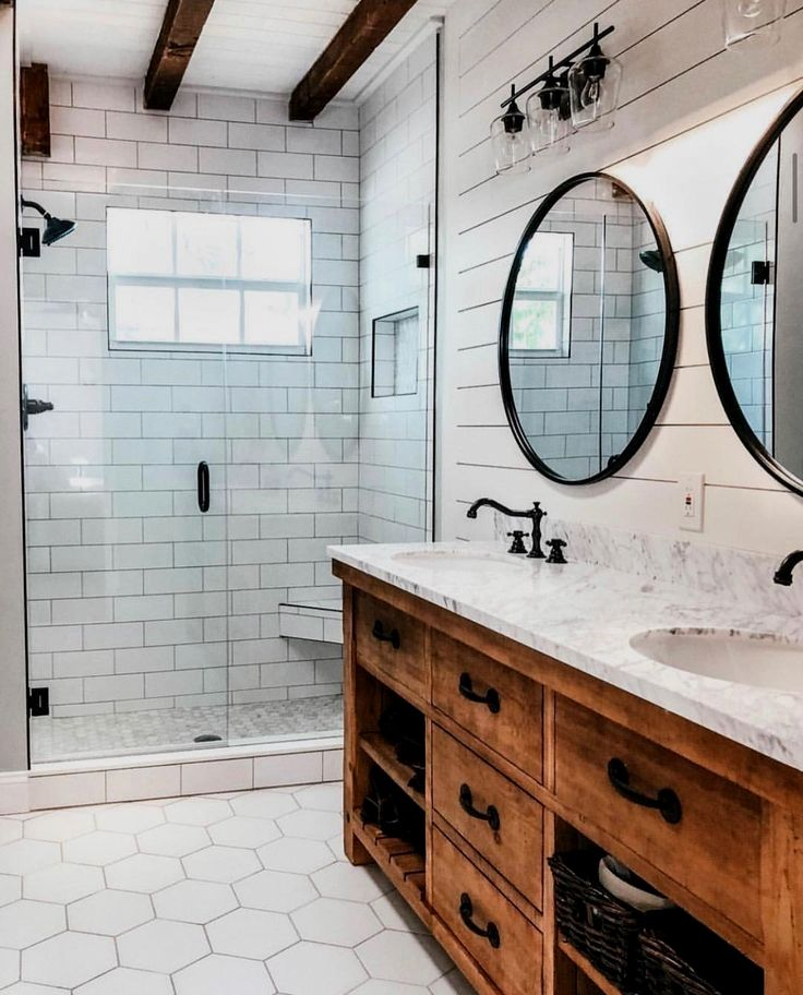 House Of An Architect In 2020 Diy Bathroom Remodel Modern Farmhouse Bathroom Farmhouse Bathroom Decor