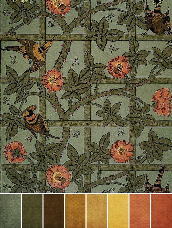 William Morris's Trellis wallpaper of 1862.