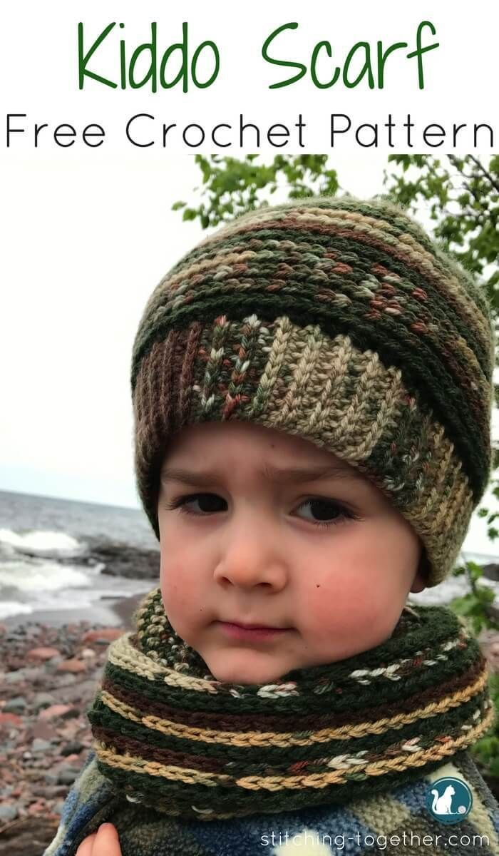 1417 best crochet baby childrens images on pinterest crochet easy infinity scarf free crochet pattern perfect for a toddler or young kid the varigated bankloansurffo Gallery