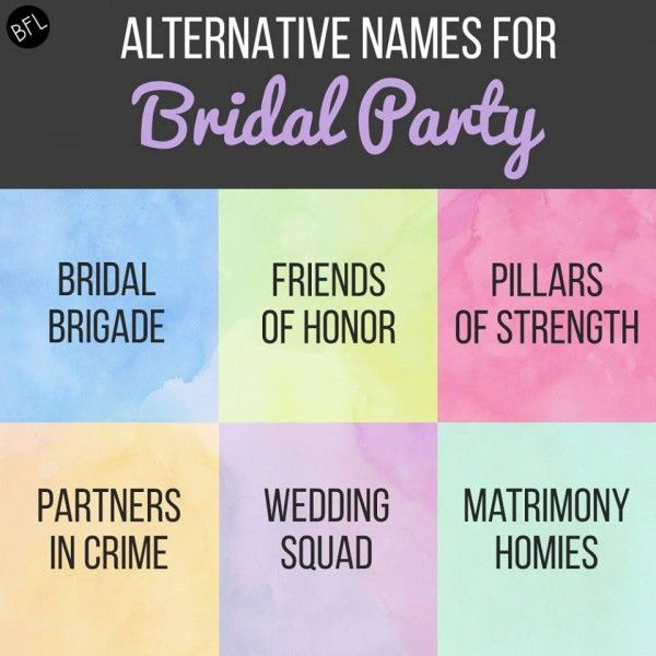 My favorite is the Bridal Brigade or Partners in Crime