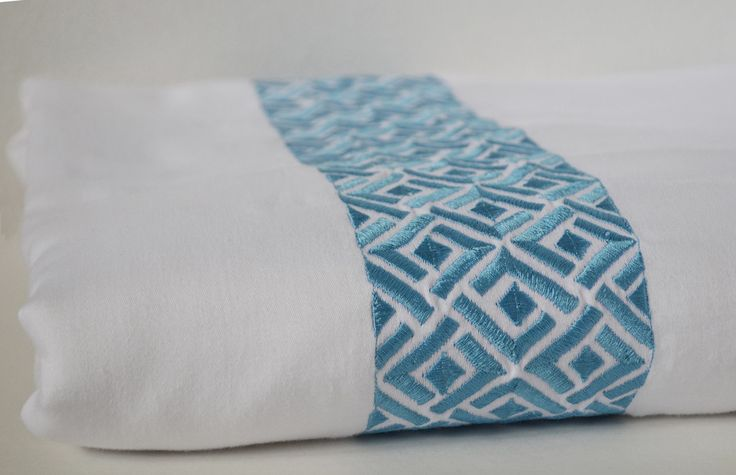 Embroidered Chippendale Duvet Cover -White 300 TC Embroidery Bedding