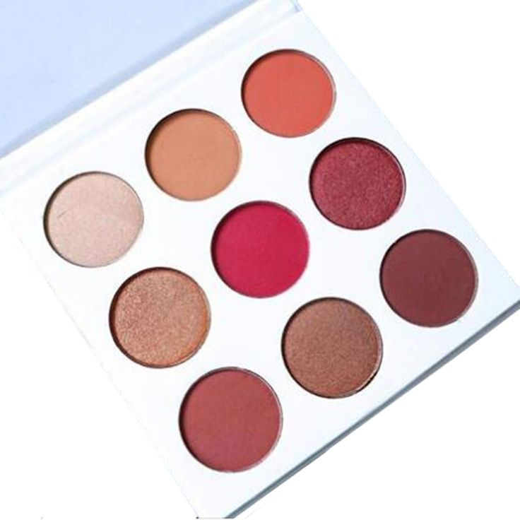 9色/セット新しい構成するパレットのアイシャドウはブロンズとブルゴーニュパレット化粧品マットアイシャドウアイシャドウパレット