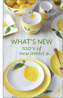 Shop Sur La Table for the finest cookware dinnerware cutlery kitchen electrics bakeware and more. & 192 best Lemon Dinnerware images on Pinterest | Dish sets Ceramic ...