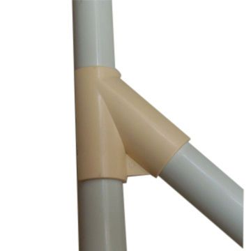 Plastic Pipe Fitting,Rigid 45 Degree Structure ,Diameter is 28mm in Beige Color