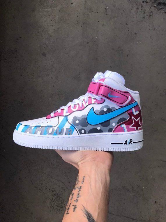 Full Custom | Nike Air Force 1 LOVE 2K19 | nike in 2019