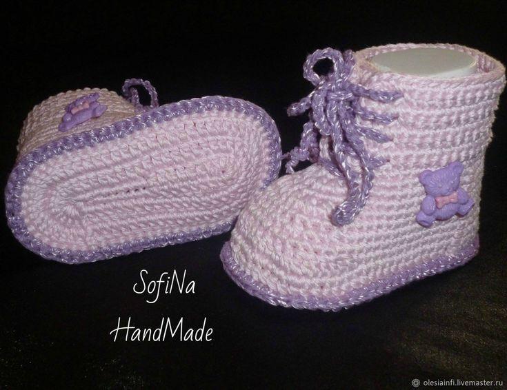 Пинетки ботиночки Мастер класс – купить в интернет-магазине на Ярмарке Мастеров с доставкой