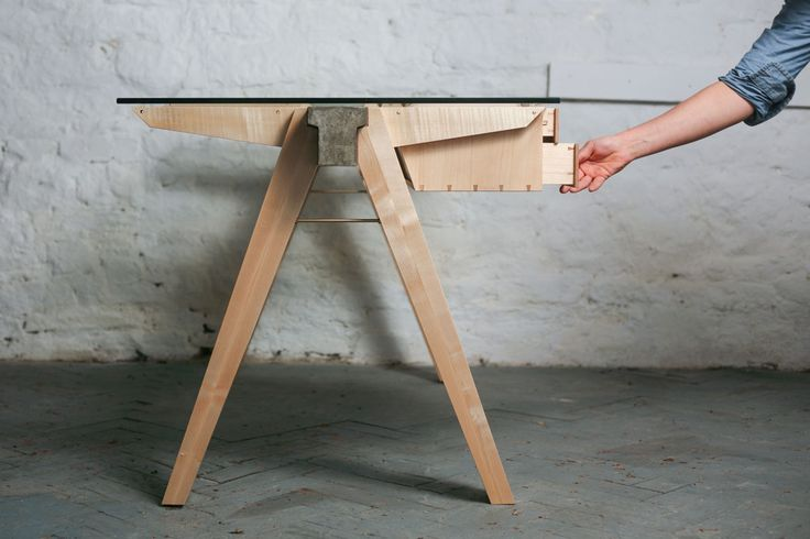 The Beam Desk is available in a choice of sustainable British hardwoods including Sycamore, Oak, Ash and Beech and is hand rubbed in Danish oil and natural Beeswax, providing a rich and durable finish. temperstudio.com