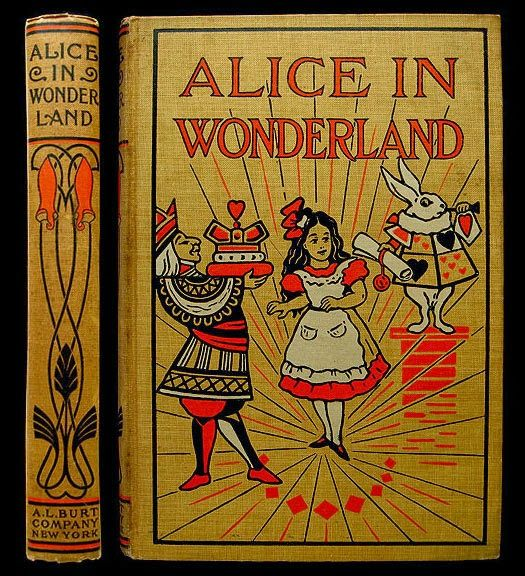 Alice In Wonderland Classic Book Cover : Alice in wonderland art nouveau pictorial cloth