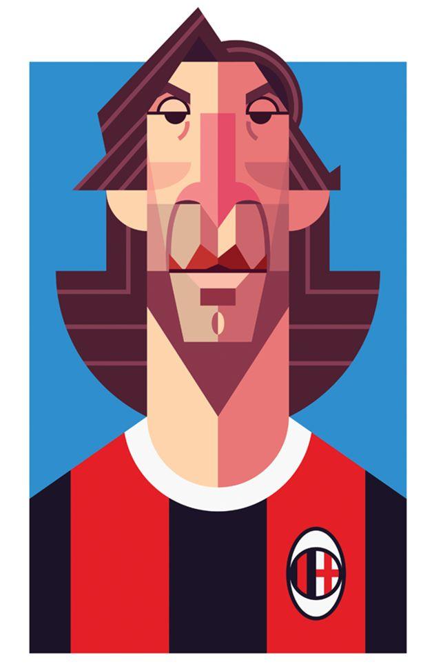 Playmakers: 25 ilustraciones de los más grandes jugadores de la historia del fútbol por Daniel Nyari | FuriaMag | Arts Magazine