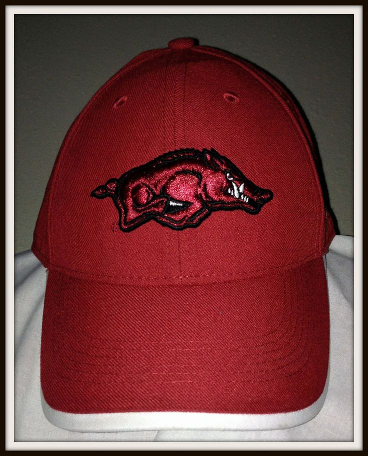 VINTAGE ARKANSAS RAZORBACKS NIKE LEGACY91 DRI FIT ADULT ADJUSTABLE CAP FREE SHIP #Nike…