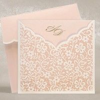 Rose Gold Wedding Invitations UK - Regina Rose Gold - Polina Perri