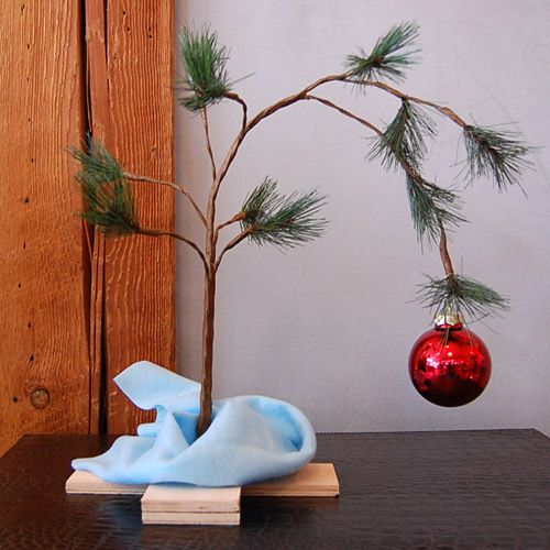 "totally making a Charlie Brown Christmas tree next year for the ""kids"""