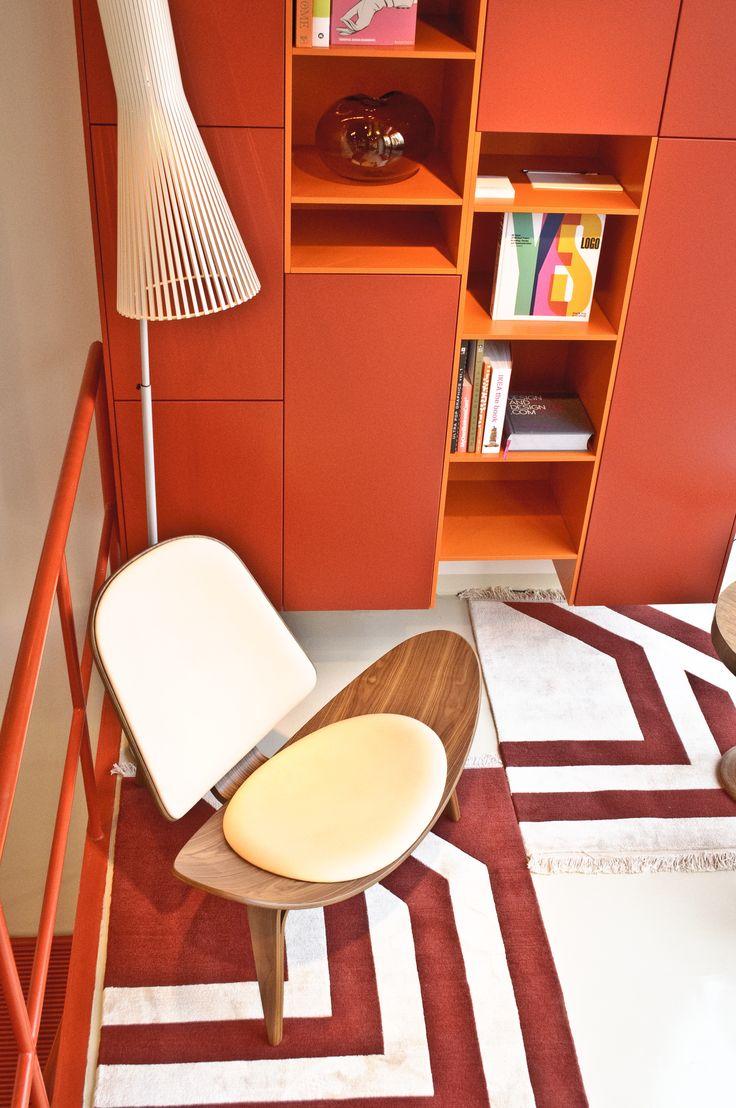 library - libreria - carpet - chair - orange - desgin new mood - new style  UNDERSTATE MILANO