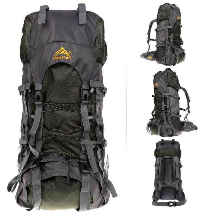 55L Backpack Hiking Trekking Bag Camping Travel Pack Climbing Knapsack S7O5