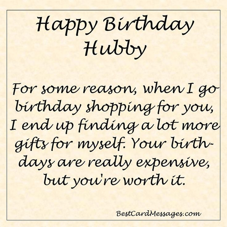 Funny Birthday Message for your Husband. #birthday #wishes #husband