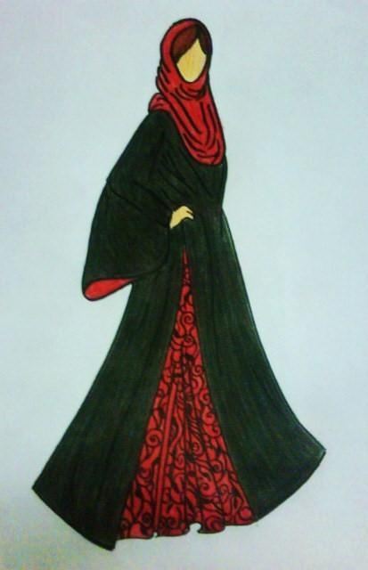 abaya design  The one instance I would insist upon wearing red & not another colour