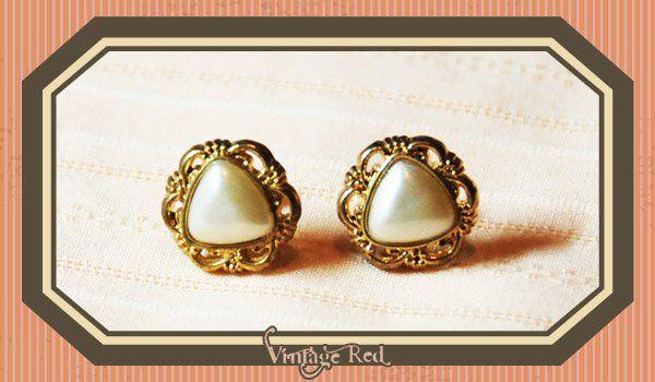 handmade button earrings