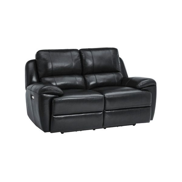 Finley 2 Seater Sofa With 2 Electric Recliners Headrest Black