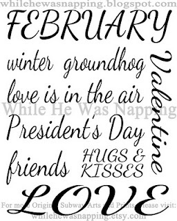 February, the wonderful month that our precious daughter Lauren was born in!!!