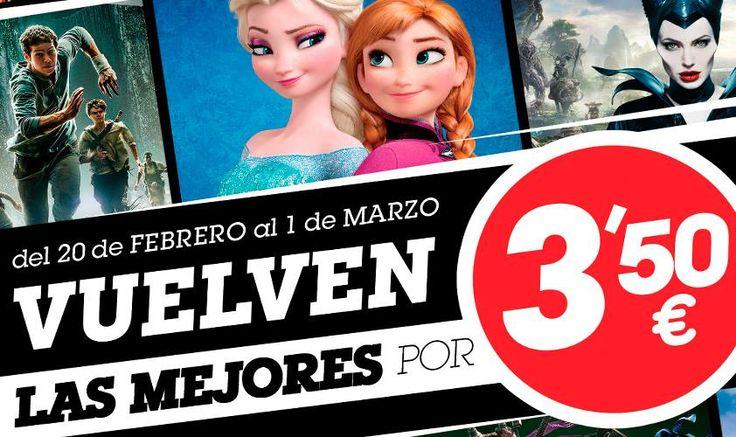 ¡El mejor cine infantil y juvenil vuelve a Yelmo Cines por sólo 3,50€!  Desde hoy y hasta el 1 de Marzo ¡Aquí os dejamos la cartelera! http://www.yelmocines.es/promoc…/vuelven-las-mejores-x-350eu