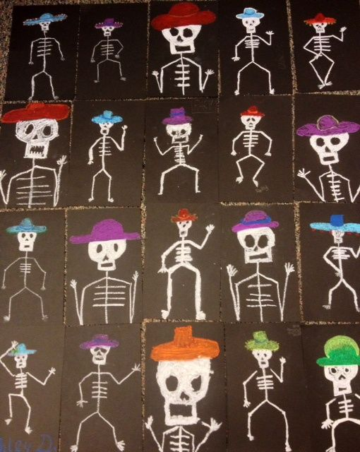 Día de Muertos or Halloween time - especially good for those all boy classes