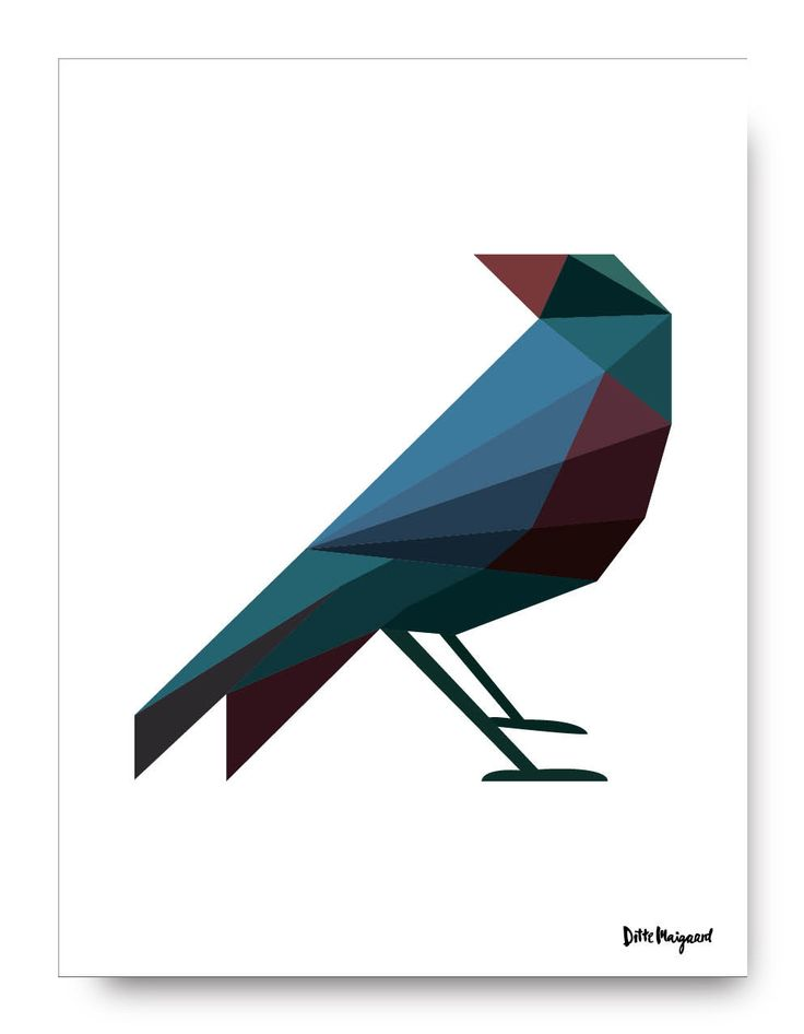 Uncle Blackbird Print by DitteMaigaard on Etsy