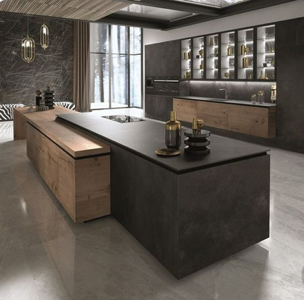 1-Island design to be continous with wall design/wine rack 2-Island