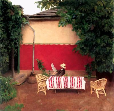 Ferenczy, Károly (1862-1917) Red wall, 1910