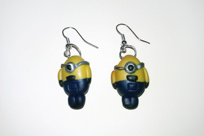 Adorable Minion earrings made for a friend. Ridiculously tricky to make.  www.facebook.com/thequirkycrafthouse