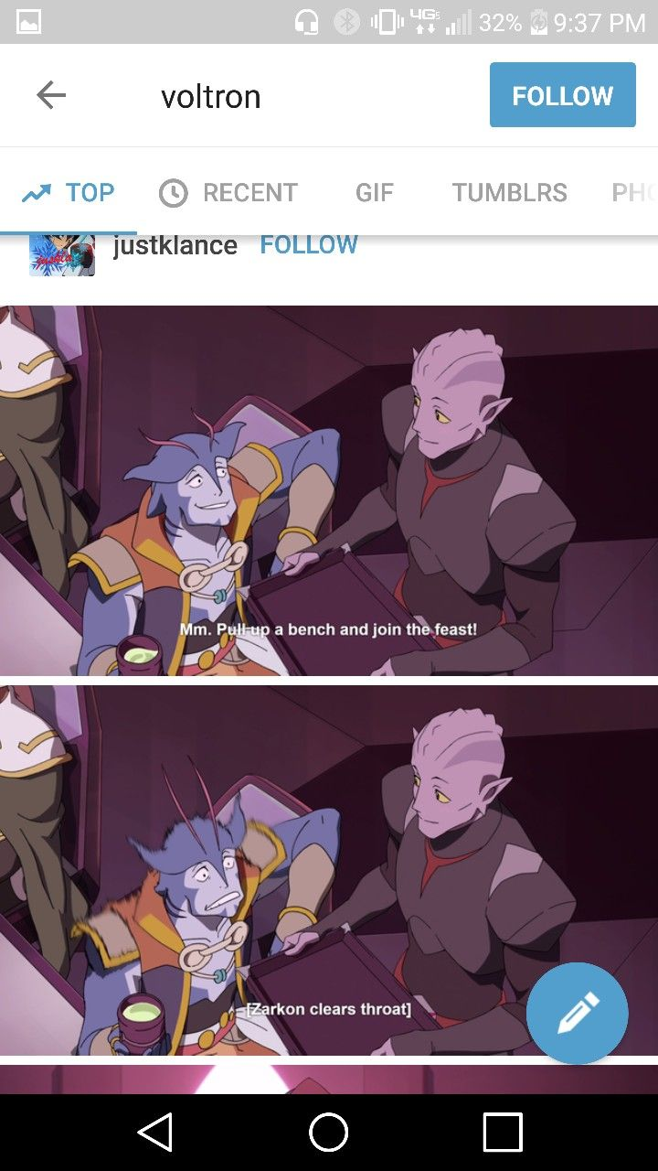 OKAY I KNOW THAT THE ALIENS HAVE NO DEFINED GENDERS BUT WE CAN ALL kinda Get it from their looks,  BUT IM MEAN THE ORIGINAL BLUE PALADIN IS SO BI,  THAT IS A DUDE ALIEN