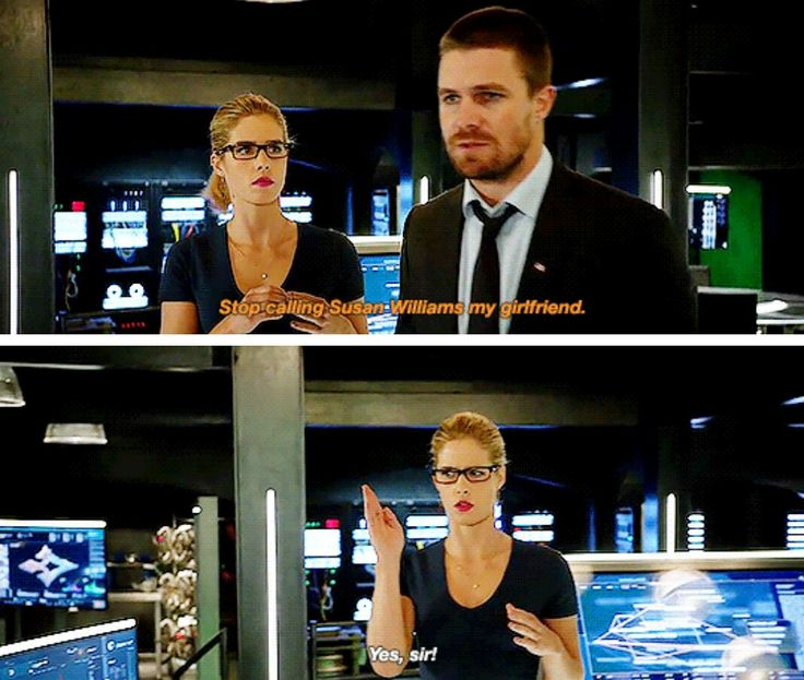 """""""Stop calling Susan Williams my girlfriend"""" - Oliver and Felicity #Arrow"""