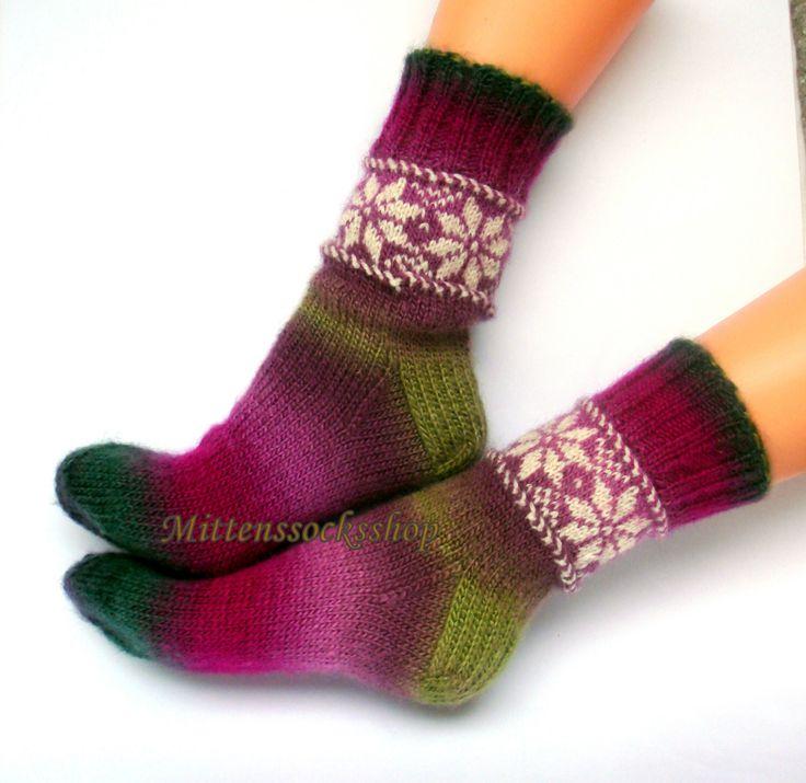 Hand knitted wool socks Warm winter socks from from batic yarn Socks with latvian ornament Frozen Warm girl's socks Womens socks Gift idea by mittenssocksshop on Etsy https://www.etsy.com/listing/228610357/hand-knitted-wool-socks-warm-winter