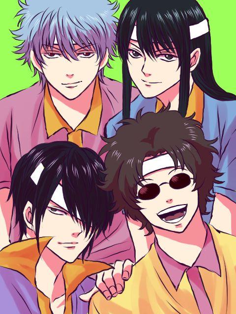 Gintama, Sakamoto Tatsuma, Katsura Koutaro, Takasugi Shinsuke, Gintoki. Love Them