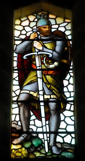 Stained Glass Window at the William Wallace (Braveheart) Memorial near Stirling, Scotland