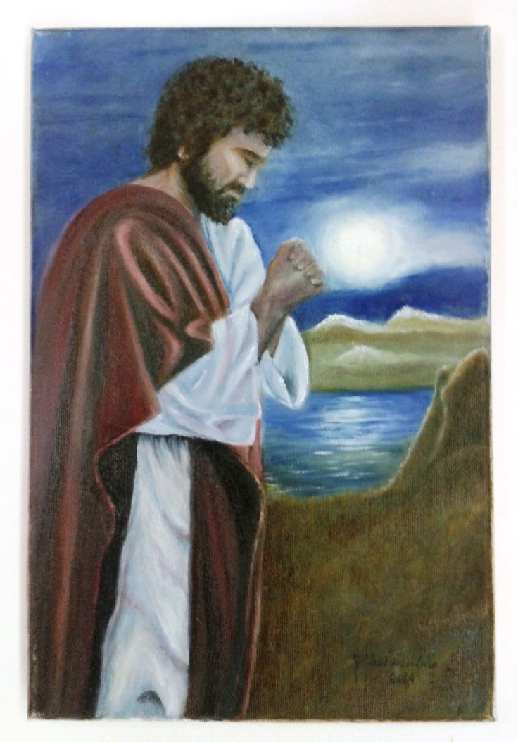 """Jesus praying""  - Oil on canvas  FOR SALE"