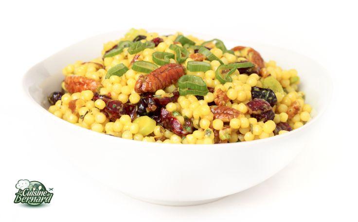 La Cuisine de Bernard : Salade de Couscous Géant aux Canneberges et Noix de Pécan