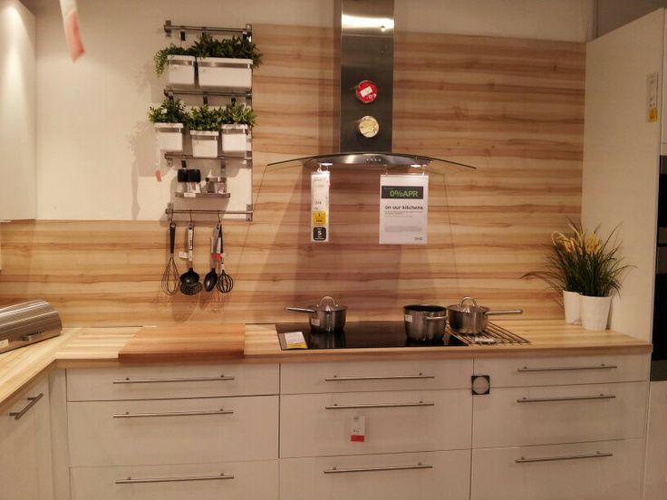 Beautiful wood grain splashback worktop used as alternative splashback kitchens pinterest - Splashback alternatives ...