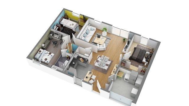 83 best images about maison on pinterest surf villas for Construction maison 80m2