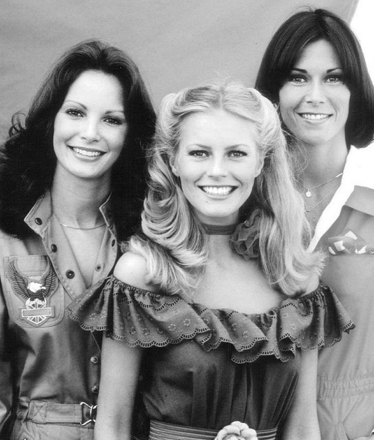 Los Angeles De Charlie con Kate Jackson, Cheryl Ladd (Kris Munroe) doblada por María Luisa Rubio y Jaclyn-Smith (Kelly Garrett) también doblada por Ana Angeles Garcia.