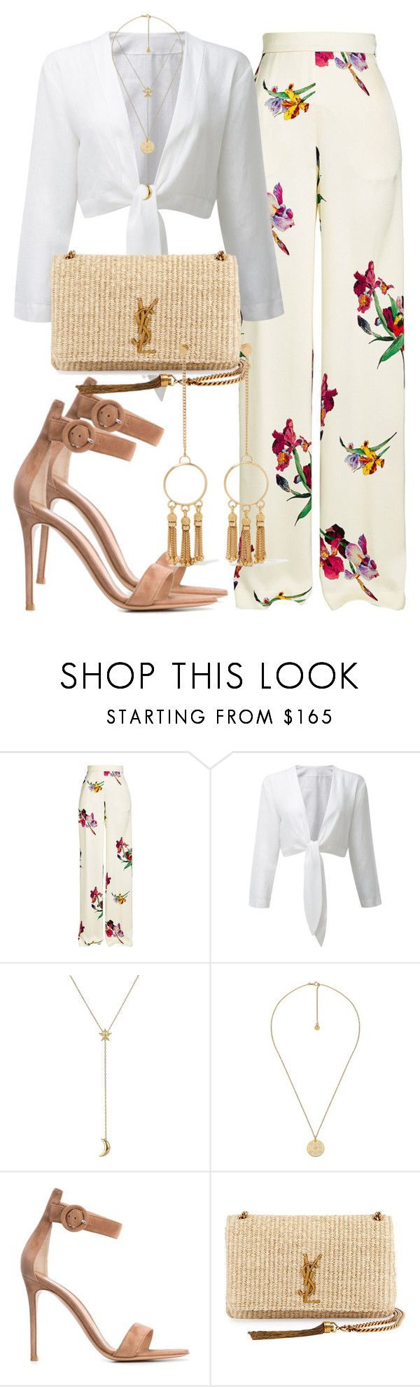 """""""2456"""" by mariandradde ❤ liked on Polyvore featuring Etro, Pamela Love, Gucci, Gianvito Rossi, Yves Saint Laurent, Chloé, saintlaurent, yvessaintlaurent and lisamariefernandez"""