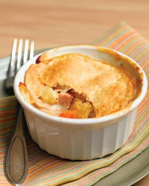 Chicken Potpies with Ham Recipe | Cooking | How To | Martha Stewart Recipes