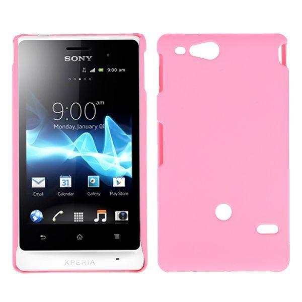 Hard Shell (Lyse Rosa) Sony Xperia Go Deksel