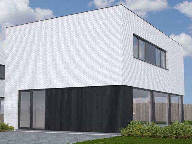 Moderne woning • nieuwbouw • gevelpleister • Ardooie • www.danneels.be # livios.be