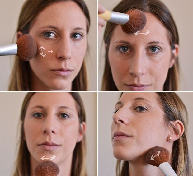 Ou vous pouvez faire simple avec un simple coup de poudre bronzante.   27 schémas pour tout savoir sur le maquillage