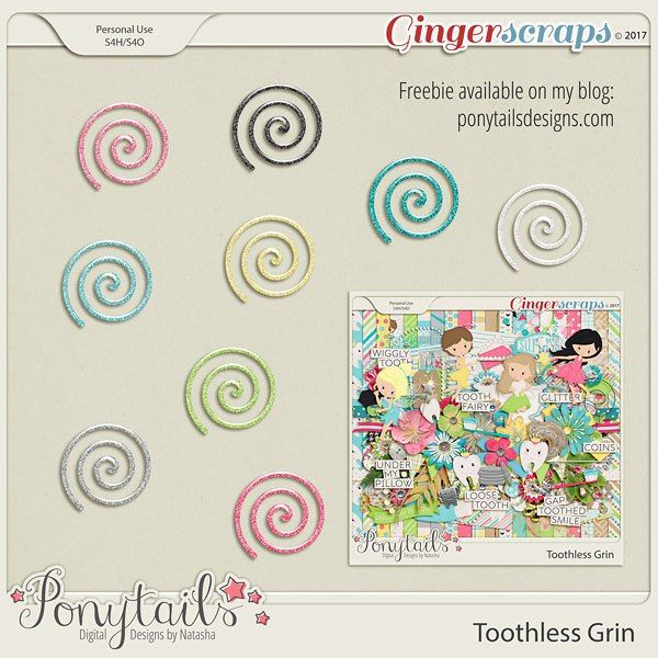 Saturday's Guest Freebies ~ Ponytails Digital Designs by Natasha  ✿ Follow the Free Digital Scrapbook board for daily freebies: https://www.pinterest.com/sherylcsjohnson/free-digital-scrapbook/ ✿ Visit GrannyEnchanted.Com for thousands of digital scrapbook freebies. ✿
