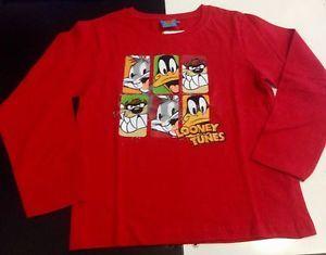 Maglietta LOONEY TUNES manica lunga bambino 10 anni idea regalo | eBay