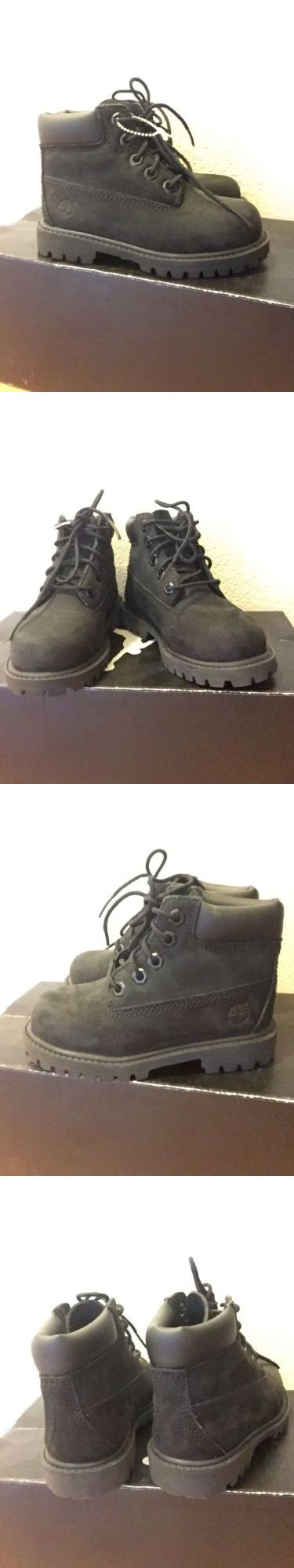 Baby Shoes 147285: Kids Toddler Timberland 6 Premium Boots Black Medium Width Nubuck 8T -> BUY IT NOW ONLY: $39.99 on eBay!