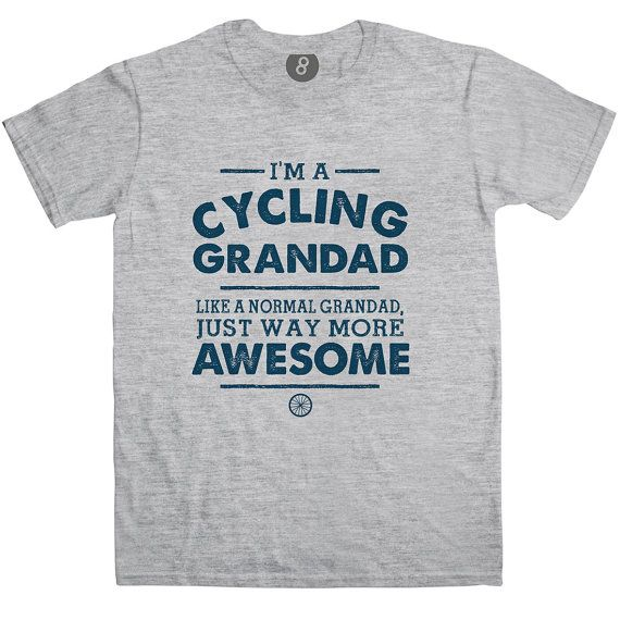 Available in 4 colours across 5 sizes and printed on Gildan Softstyle t-shirts for a soft fit with the highest quality print.  This t-shirt makes a great present for him on his birthday, for Fathers Day, Grandparents Day or as a Christmas gift.  Featuring a one colour print with the slogan Im A Cycling Grandad, Like A Normal Grandad, Just Way More Awesome with a graphic of a bike wheel underneath.  A perfect gift for grandads birthday, Fathers Day, Grandparents Day or Christmas present.  Not…